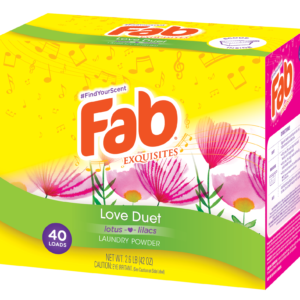 Fab Love Duet Powder Laundry Detergent (2.6 lbs)
